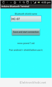 Android kontrol program