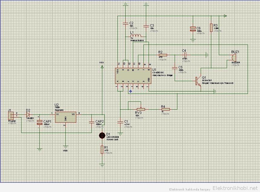 Metal Detektörü Devre Şeması
