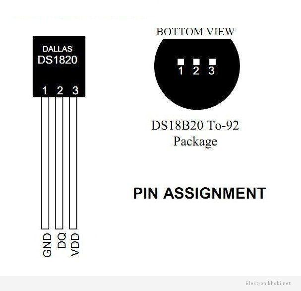 Ds18b20 sıcaklık sensörü