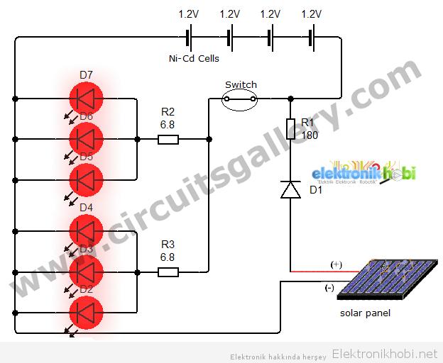 Güneş enerjili basit masa lambası2