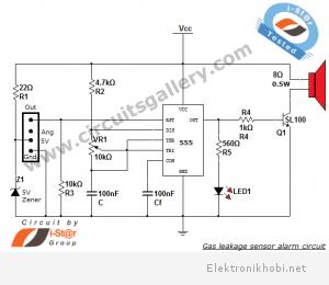Gas+leakage+sensor+alarm+circuit+engineering+project+using+555+timer+and+QM6+SEN+1327+gas+sensor+module+circuit