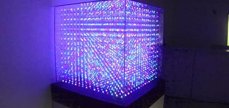 16x16x16 led küp