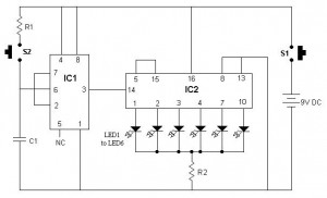 Elektronik Zar Devre Şeması