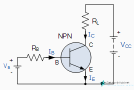 npn transistorun baglantisi
