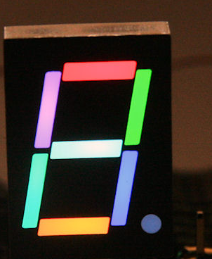 Segment rgb display projesi