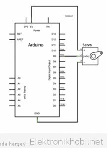 arduino servo motor şematik