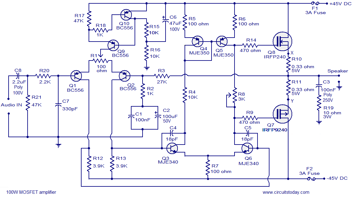 100W-mosfet-power-amplifikator