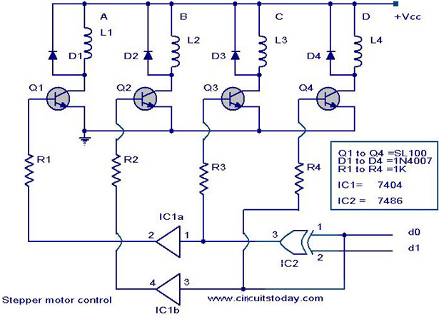 Step Motor Kontrol Devresielektronik Hobi